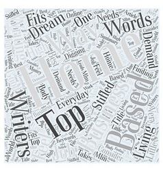 Top Home Based Businesses for Writers Word Cloud vector