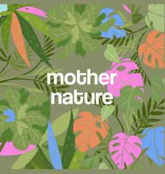 tropical leaves dense jungle background vector image