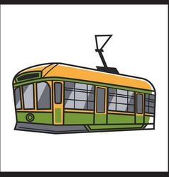 Wagon of ropeway vector