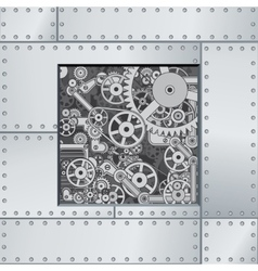 Abstract Mechanism Backdrop vector image vector image