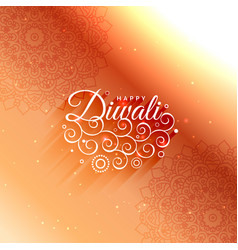 beautiful diwali decoration greeting card vector image vector image