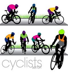 Cyclists set01 vector