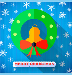 Merry christmas colorful poster vector