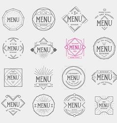 Restaurant menu logo vintage label retro design vector image vector image