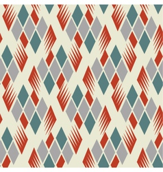 retro diamond repeat pattern 1 vector image vector image