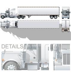 semi-truck vector image vector image