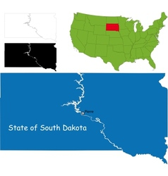 South dakota map vector image