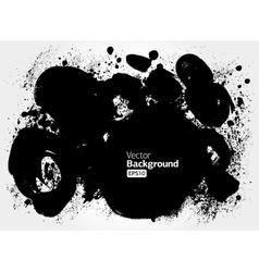 Black grunge ink banner vector image vector image