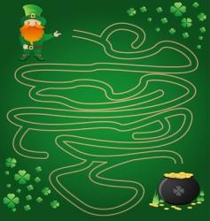 leprechaun maze vector image vector image