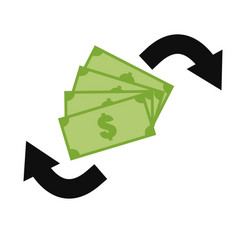 money exchange icon on white background money vector image vector image
