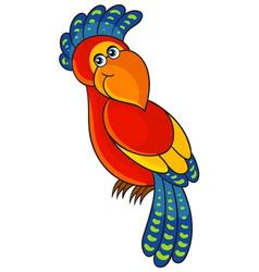 Parrot Cartoon african wild animal character vector image vector image