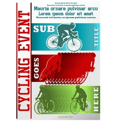 sport event poster cycling vector image vector image