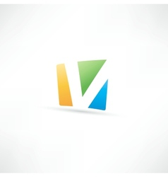 Abstract icon based on the letter V vector image vector image
