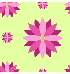 Seamless texture with purple flowers vector image vector image