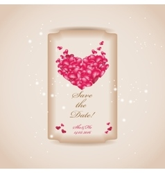 wedding invitation or greeting valentine day card vector image