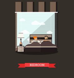 bedroom in flat style vector image vector image