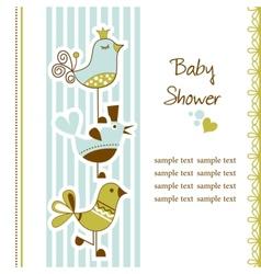 Birds baby shower vector image
