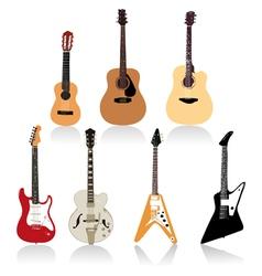 Guitar set art vector image
