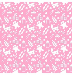 seamless baby background vector image