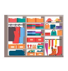 wardrobe clothes storage closet vector image vector image