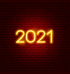 2021 neon text vector image