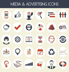 advertising icons vector image