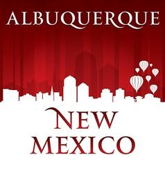 Albuquerque New Mexico city skyline silhouette vector
