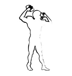 American football player quarterback helmet sketch vector
