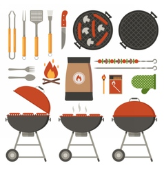 Barbecue tools collection vector