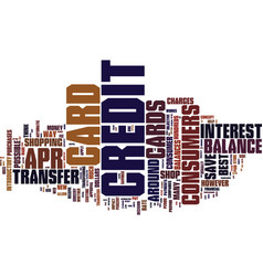 Best credit card deals text background word cloud vector