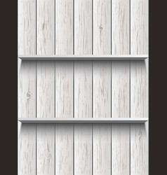 blank wooden shelf vector image