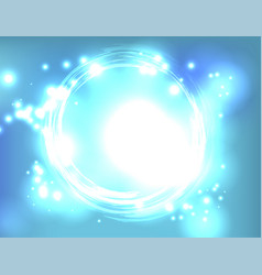 blue light explosion abstract background vector image