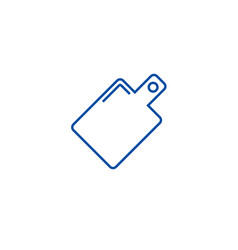 board line icon concept board flat symbol vector image