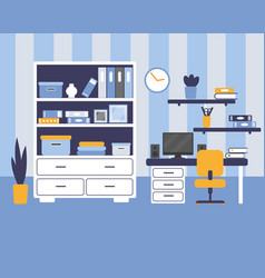 Boys room with furniture vector