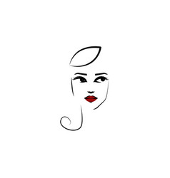 calot hat girl icon element beautiful girl in vector image