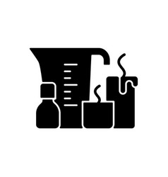 Candle making black glyph icon vector