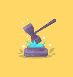court gavel icon creative vector image