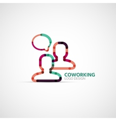 Coworking company logo business concept vector