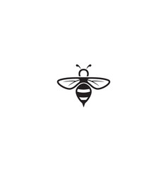 Creative bee lines logo design vector