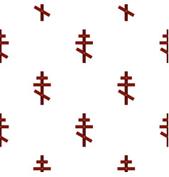 Cross pattern flat vector