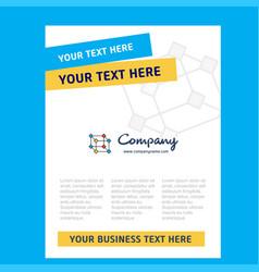 cube title page design for company profile annual vector image