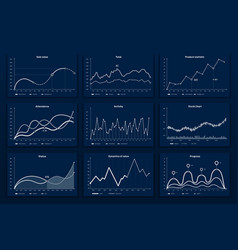 data graphic charts maths coordinates graph vector image