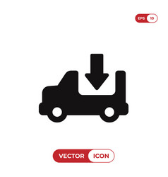 delivery truck icon cargo truck sign delivery van vector image