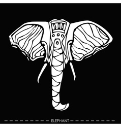 ethnic elephantfor cards designhand drawn vector image