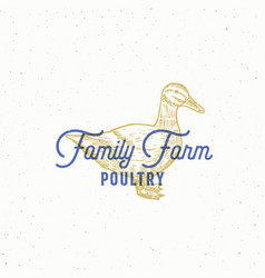 family farm poultry abstract sign symbol vector image