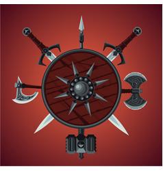 Fantasy game background banner vector