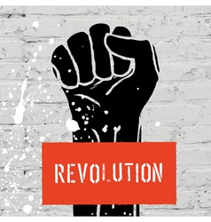 Fist symbol of revolution vector
