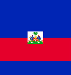 Flag of haiti vector