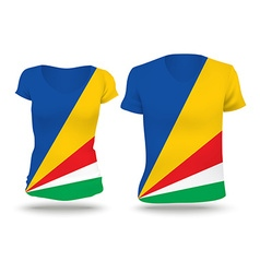 Flag shirt design of Seychelles vector image