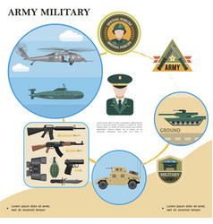 flat military template vector image